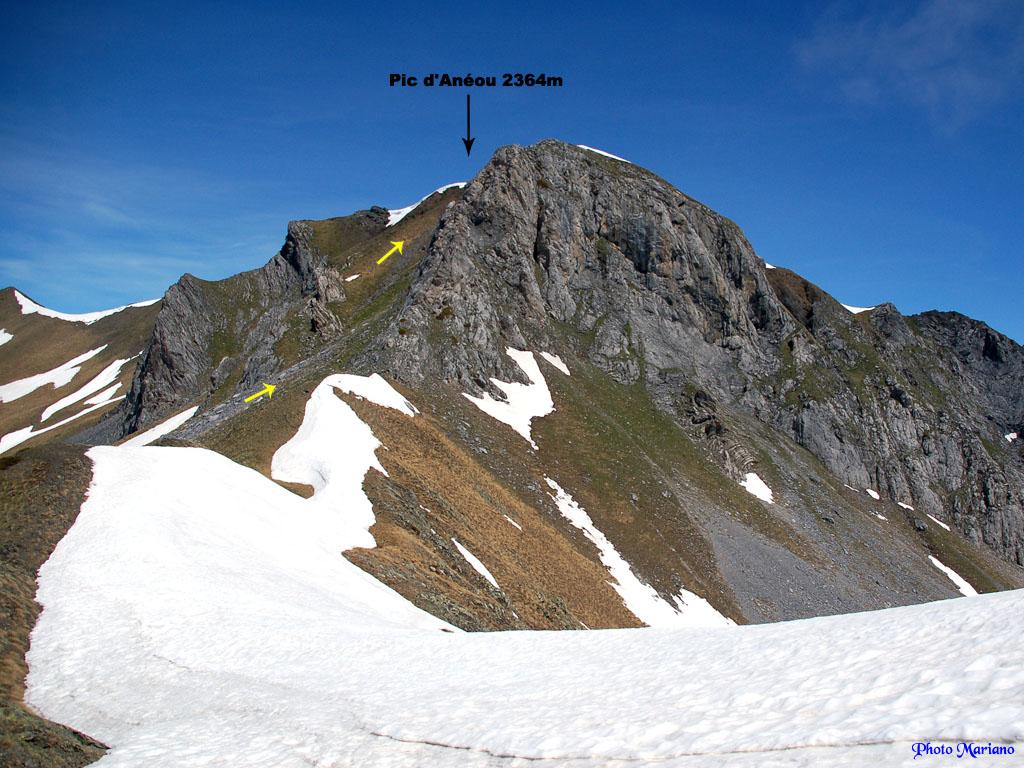 Randonnée Pic d'Anéou 2364m