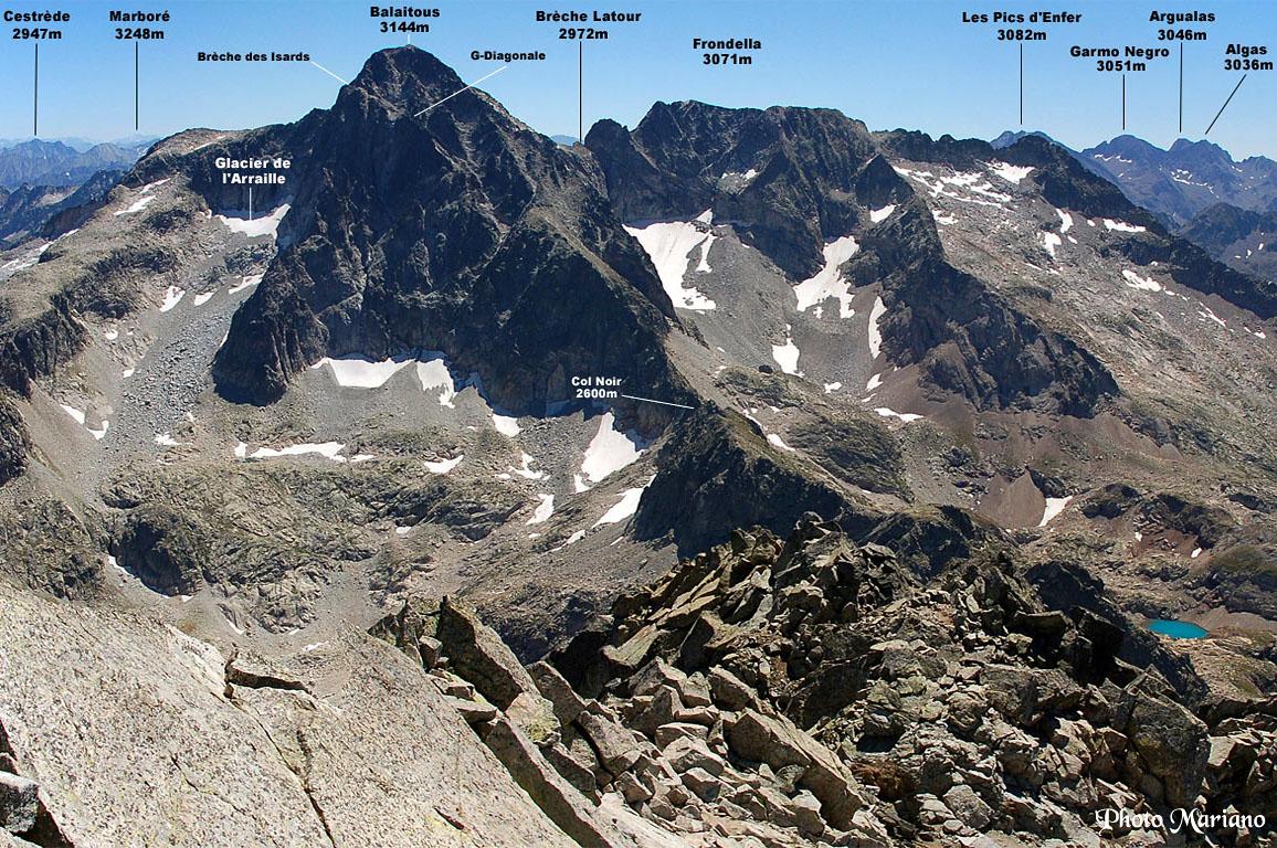 Randonnée Balaitous 3144m depuis le refuge d'Arrémouli 2305m