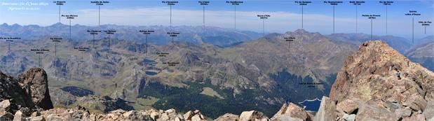 Panorama Pic du midi d'Ossau 2884m