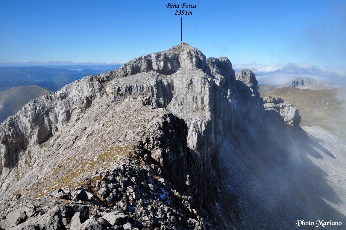 Randonnée Peña Forca 2391m