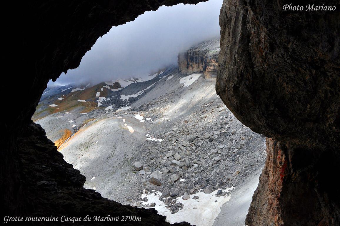 Randonnée Casque du Marbré (3006m) par la voie souterraine