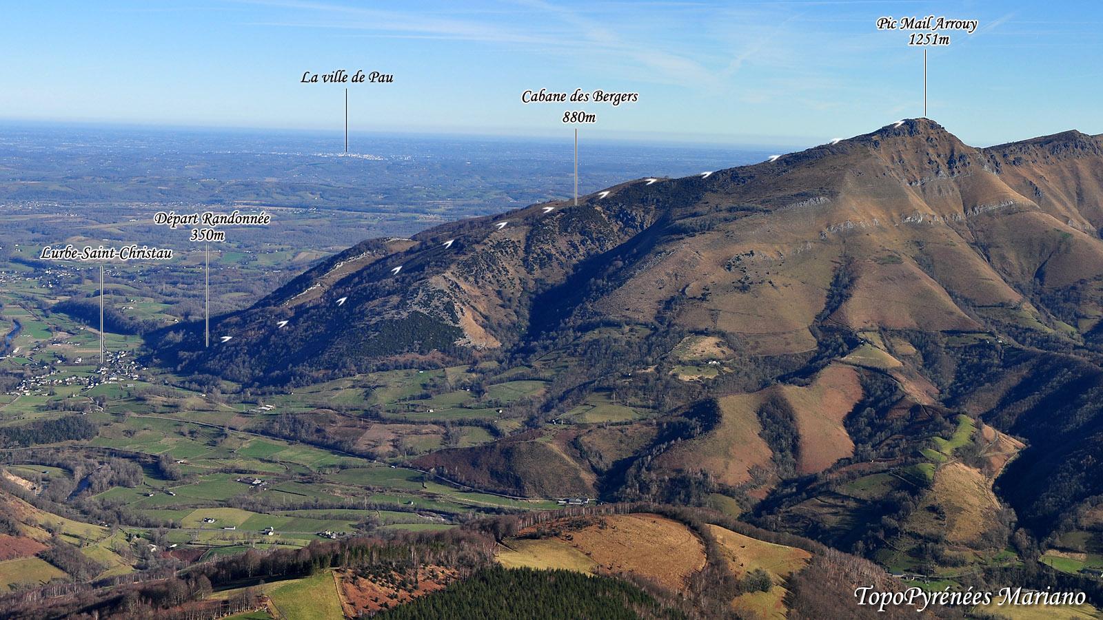 Randonnée à la cabane des Bergers (880m) et au Pic Mail Arrouy (1251m)
