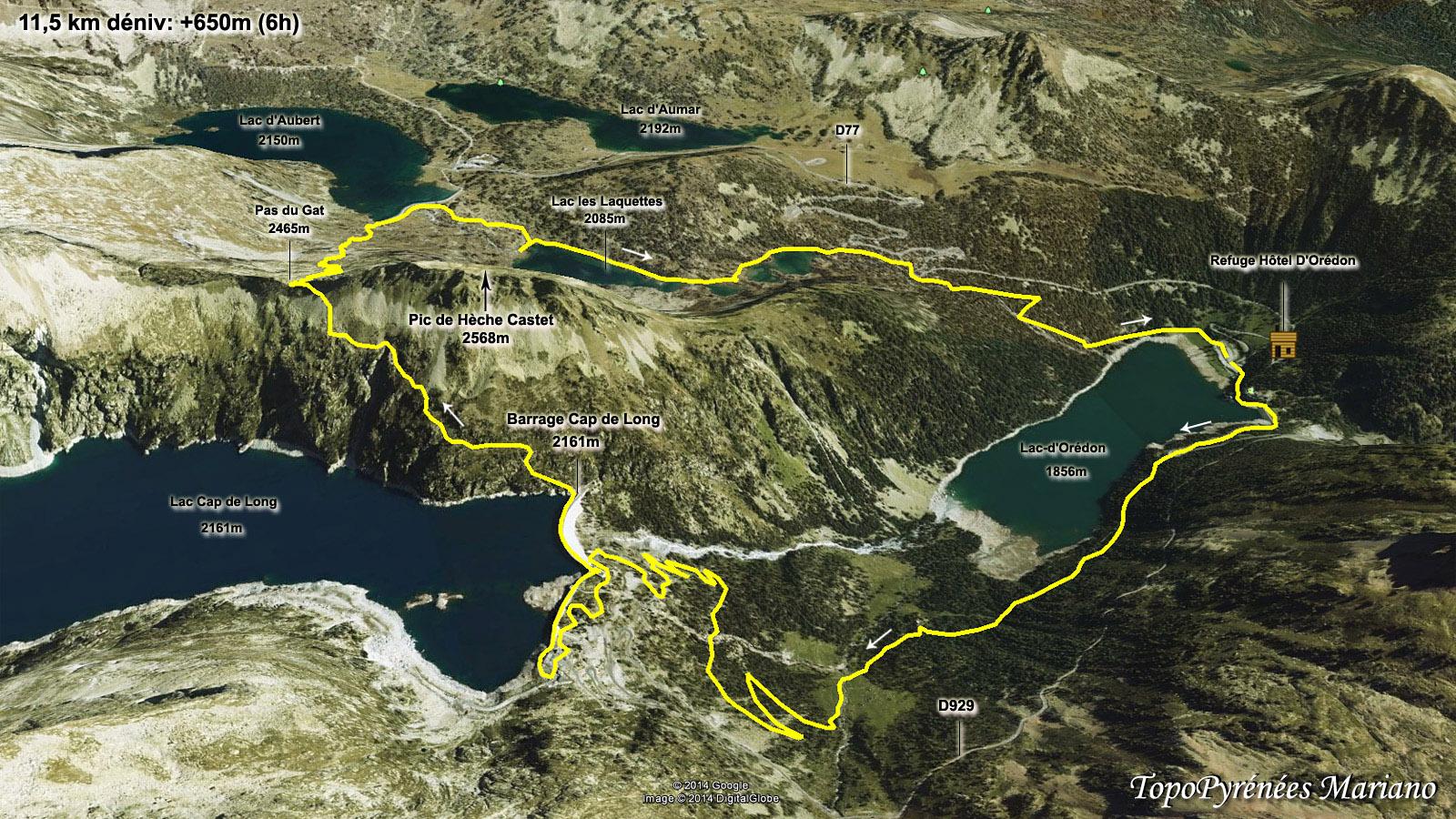 Randonn e circuit des lacs du n ouvielle par le pas du gat for 3d jardin torrent