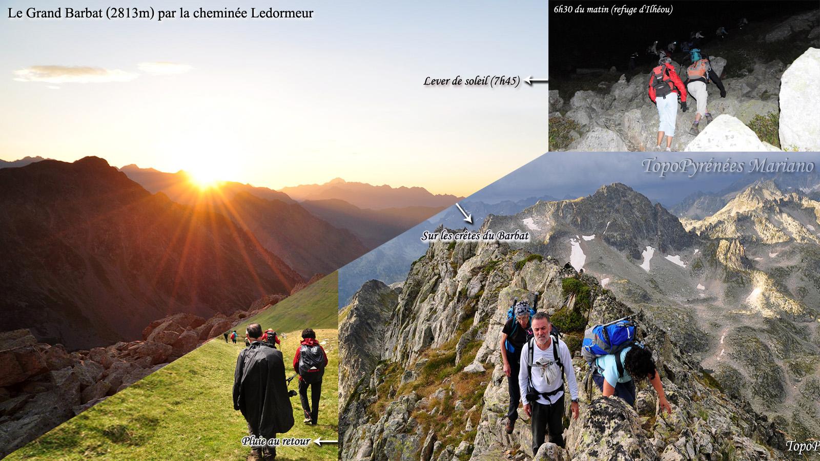 Randonnée Grand Barbat (2813m) en boucle par la cheminée Ledormeur et le col d'Ilhéou