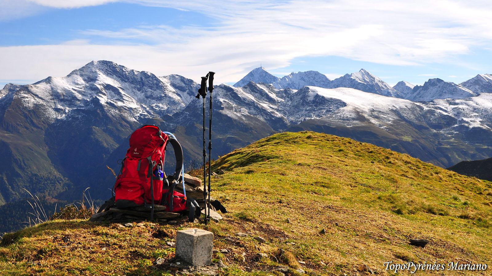 Randonnée Pic Hautacam (1746m) par les crêtes depuis le village de Ousté (630m)