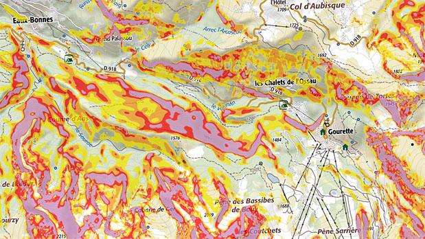 Anticiper le risque d'avalanche avec la carte des pentes (Géoportail)