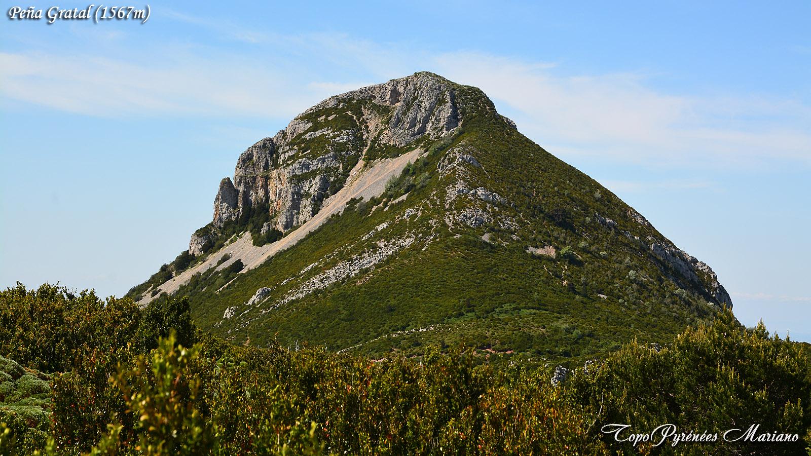 Randonnée Peña Gratal (1567m) depuis Arguis