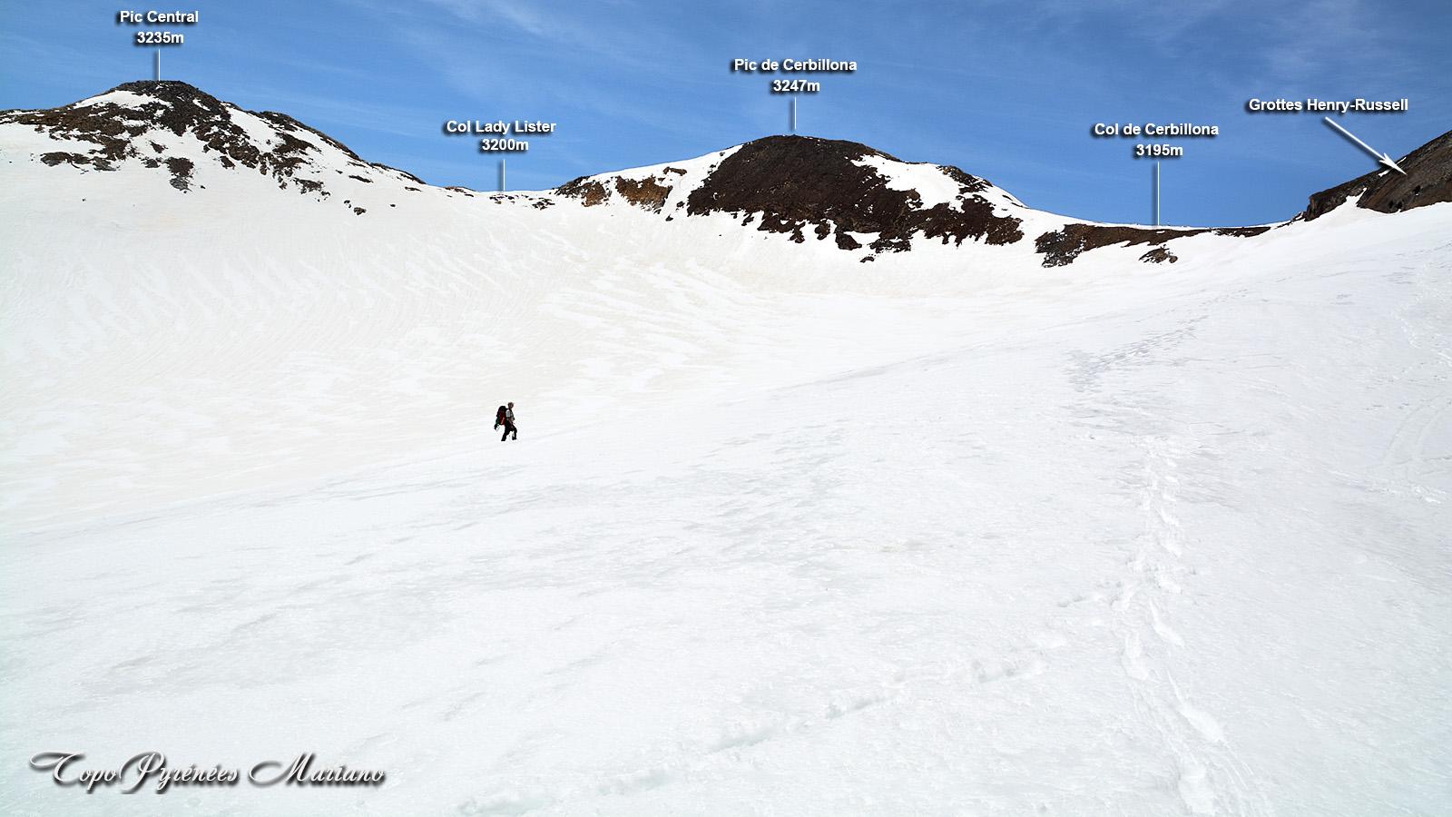 Randonnée Col de Cerbillona (3195m) Pic de Cerbillona (3247m) et Pic Central (3235m)