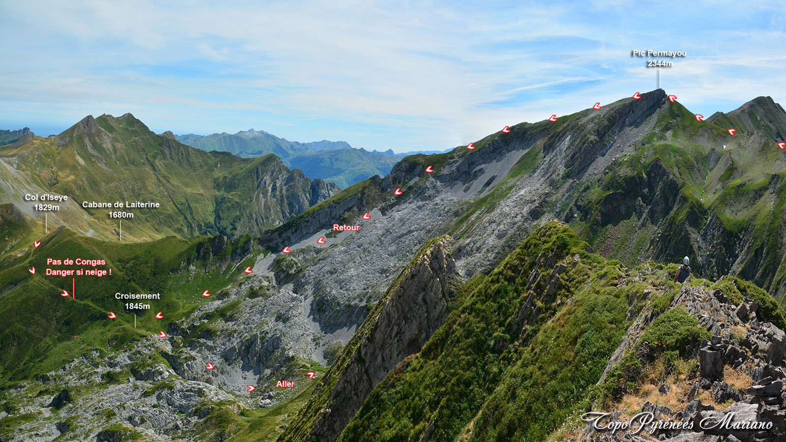 Randonnée Pic Permayou (2344m) en boucle par le Pic du Ronglet (2180m)