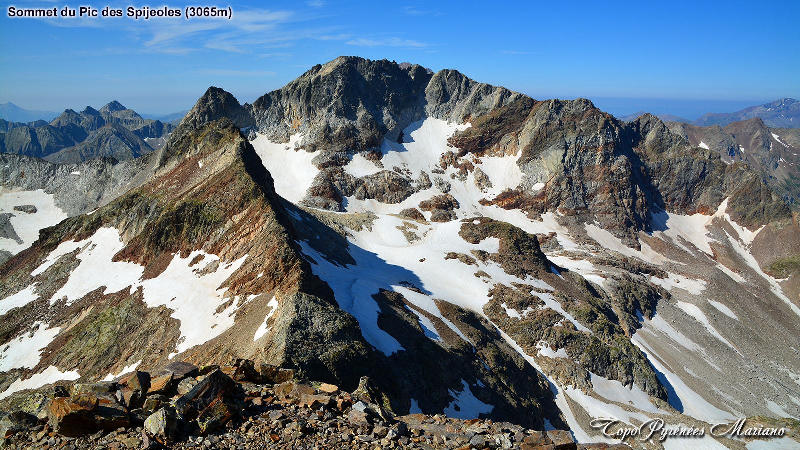 Randonnée Pic des Spijeoles (3065m) par le sentier des mineurs