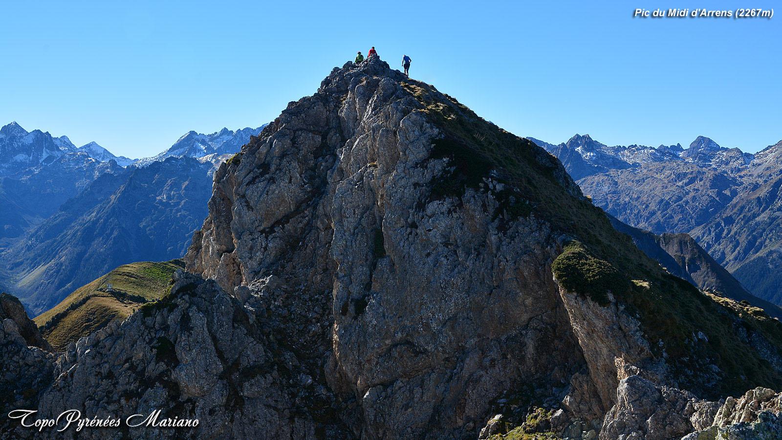 Randonnée Pic du Midi d'Arrens (2267m) et Pic de Mousquès (2222m)