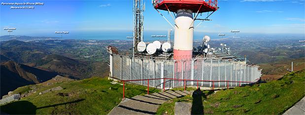 Panorama depuis le sommet de la Rhune (905m)
