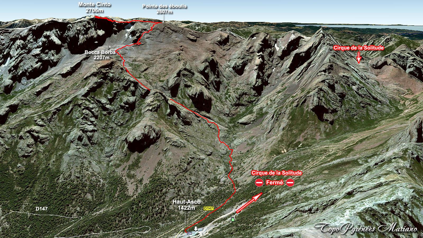 Carte Corse Monte Cinto.Randonnee Monte Cinto 2706m Gr20 Corse Les Topos
