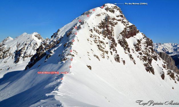 Raquettes col de Bénou (2278m) et Pic des Moines (2349m)