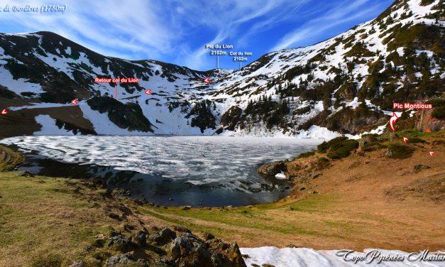 Lac de Bareilles (1760m) et Pic de Montious (2171m)