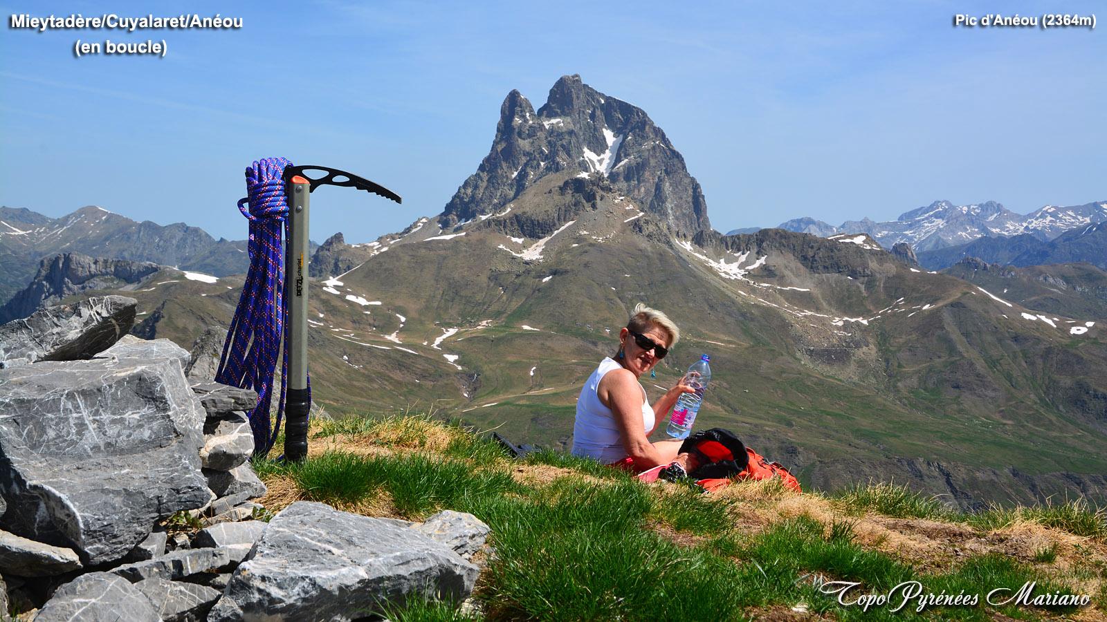 Pène Mieytadère (2108m), Cuyalaret (2289m) et Pic d'Anéou (2364m)