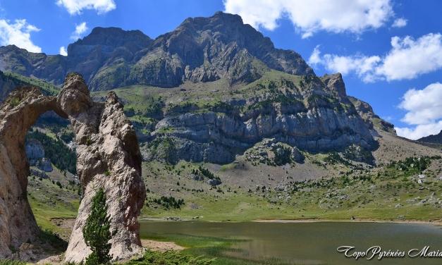Randonnée Lac de Piedrafita (1620m) en boucle par l'arche de Sarronal (1860m)