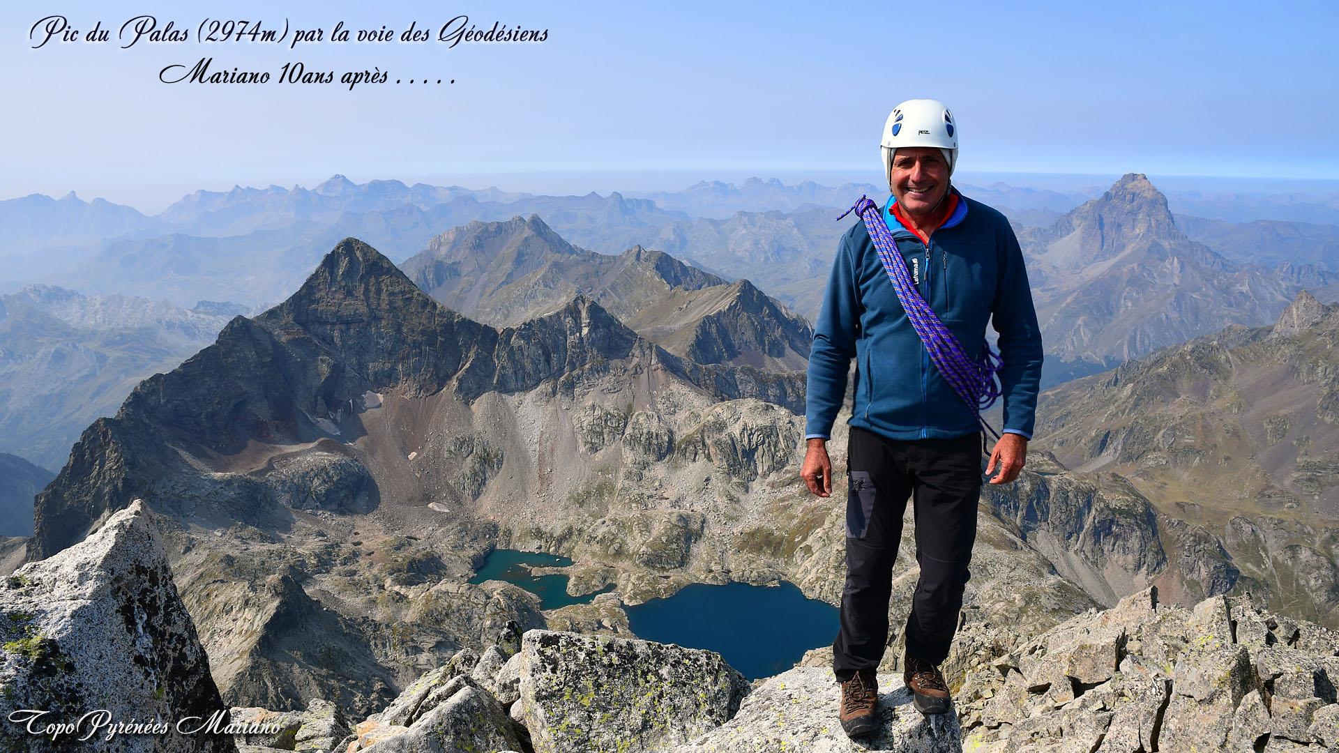 Randonnée Pic du Palas (2974m) par l'arête des géodésiens