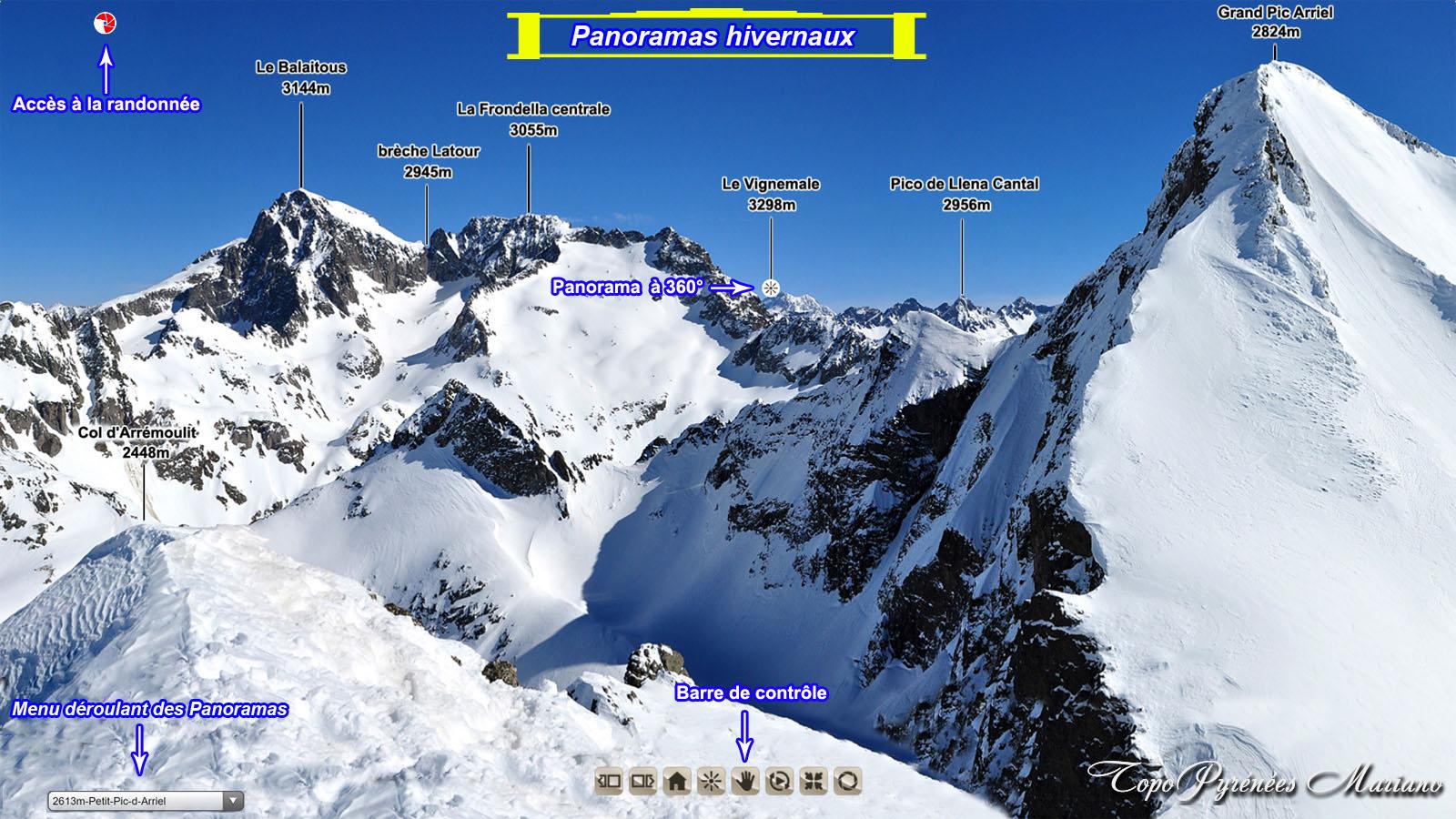 Panoramas hivernaux des Pyrénées Occidentales