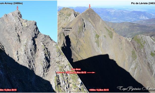 Randonnée Pic Léviste 2463m, Soum Arrouy 2488m