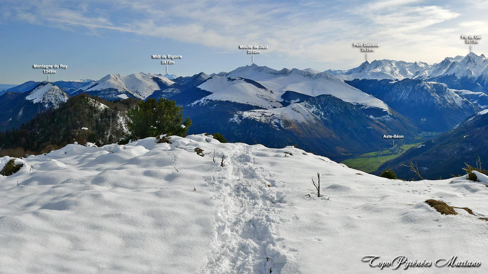 Sortie hivernale au Pic Bersaout (Barsaut) 1368m par son versant Nord