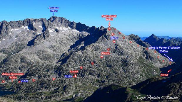 Randonnée Gavizo Cristail (2890m) par le refuge de Respomuso