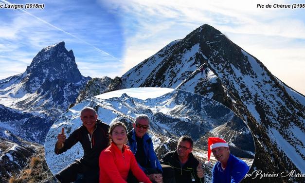 Sortie hivernale en boucle par les Pics de Chérue (2195m) et Lavigne (2018m)