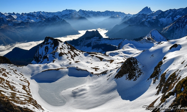 Sortie hivernale au Pic du Montagnon d'Iseye (2173m) depuis Laruns