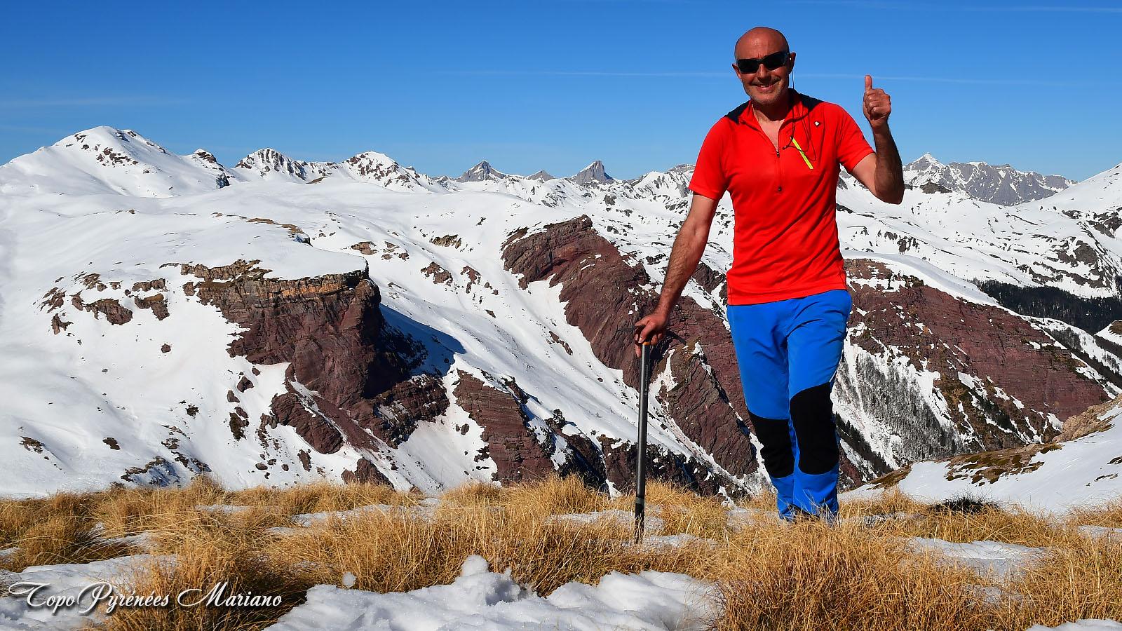 Raquettes au Souperet (2033m) et Pic du Baralet (2052m)
