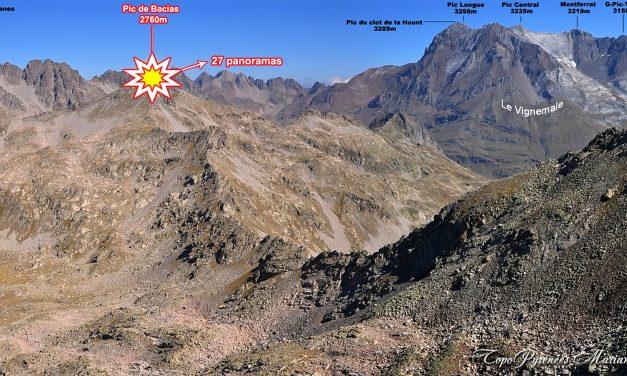 Panoramas depuis le Pic de Bacias (2760m)