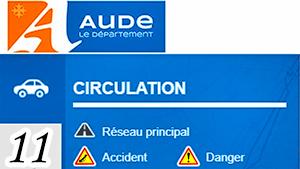 Informations routières 11 (Aude)