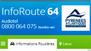 Informations routières (64) Pyrénées Atlantiques)