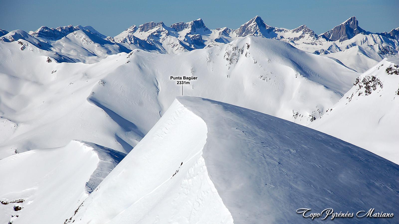 Raquettes à la Punta Bagüer (2331m), Canaourouye (2347m) et Pic Lalagüe (1942m)