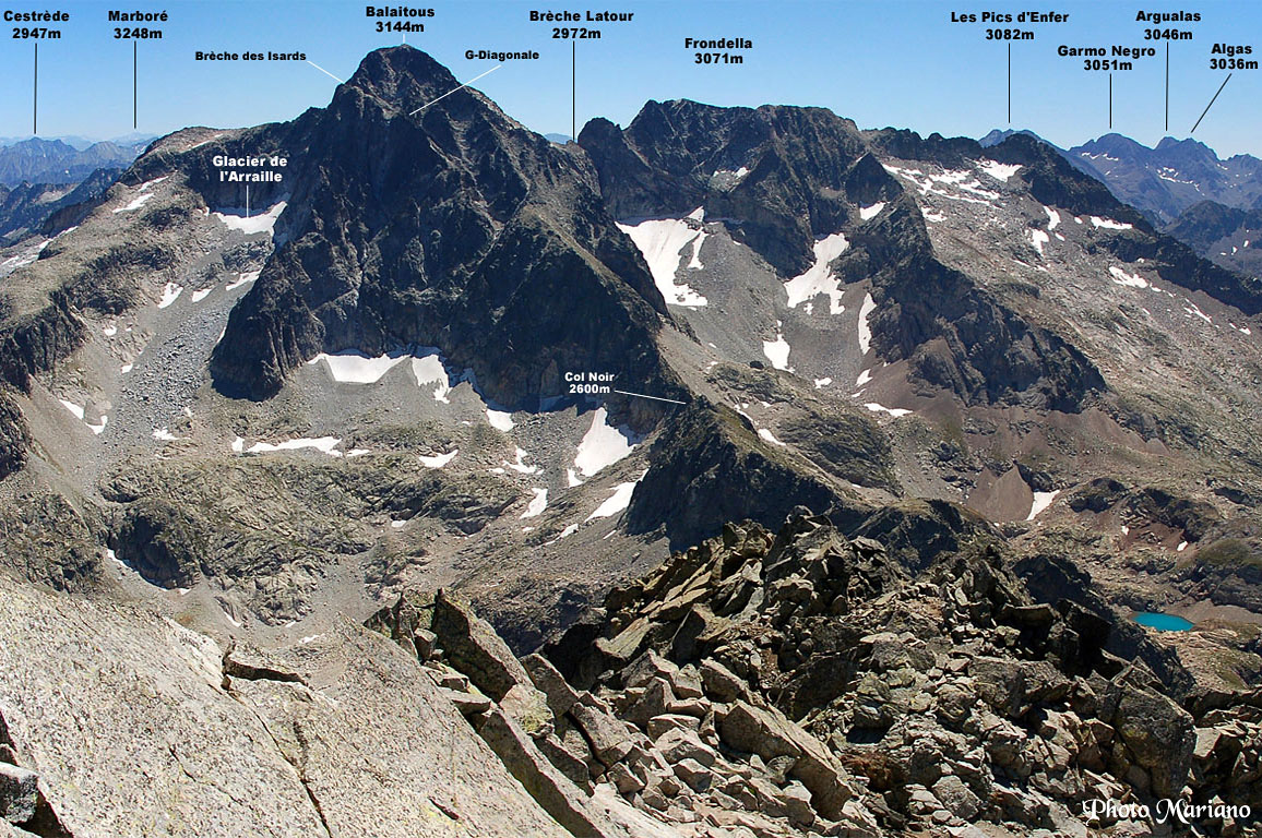 Randonnée Balaitous (3144m) depuis le refuge d'Arrémoulit (2305m)
