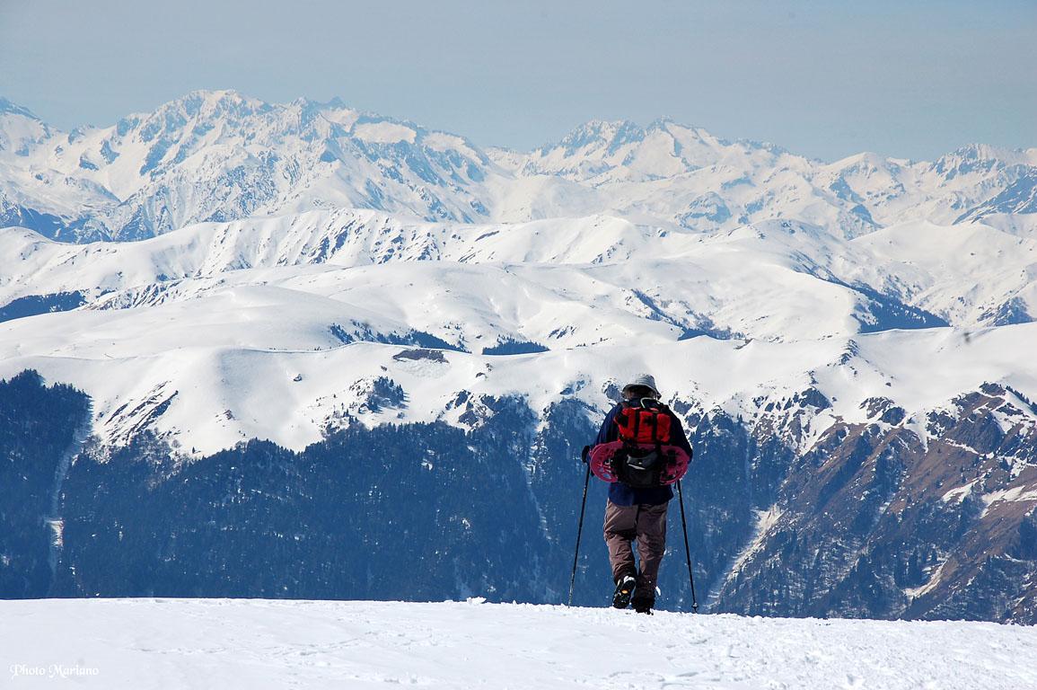 Raquettes Pic de Bacanère 2193m et le Montmajou 2082m