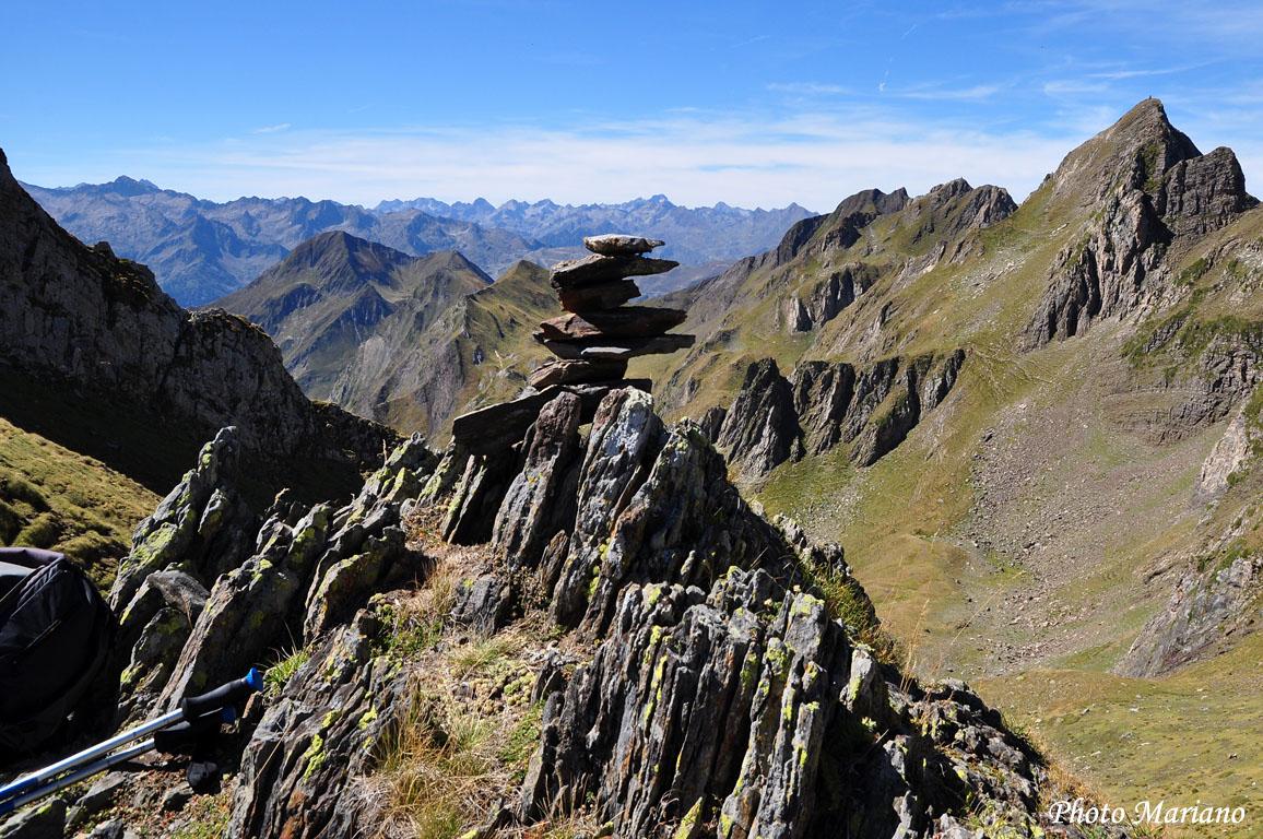 Randonnée col du Mail de la Sède 2420m et Soum de Lascours 2485m