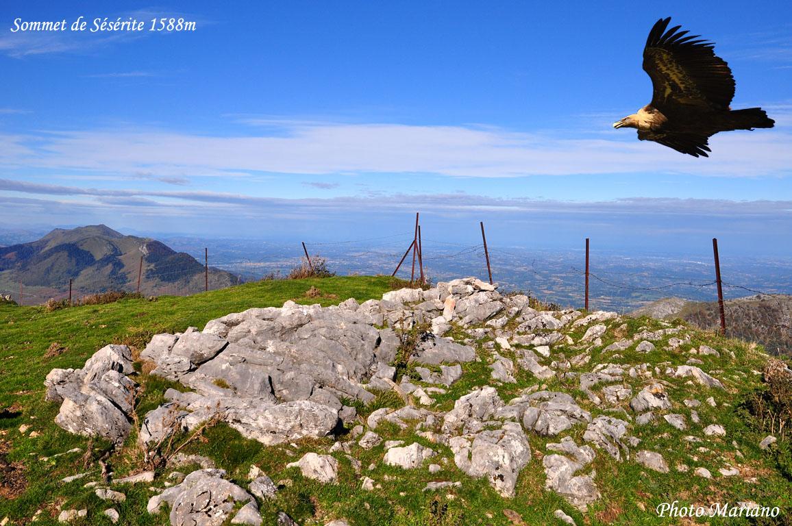 Randonnée sommet de Sésérite 1588m