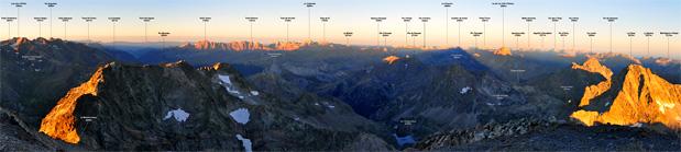 Visiter la chaîne Pyrénéenne de la Rhune au Canigou à travers les Panoramas du site