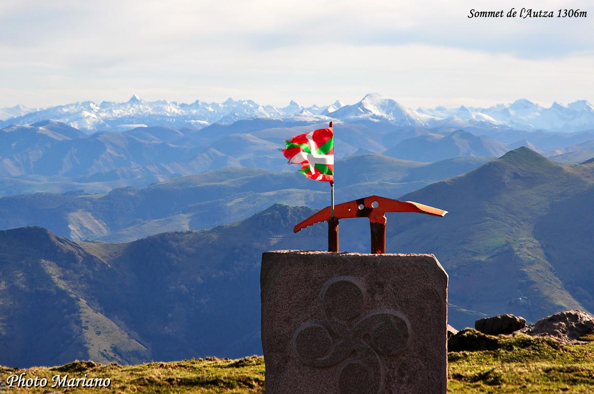 Randonnée Sommet de l'Autza 1306m retour par la crête d'Olhateko Kaskoa