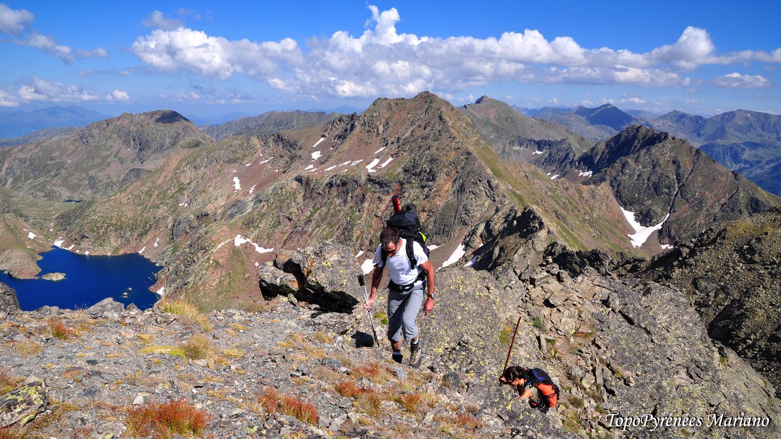 Randonnée Pic de Malcaras (2865m) et Pic de l'Etang Fourcat (2859m)