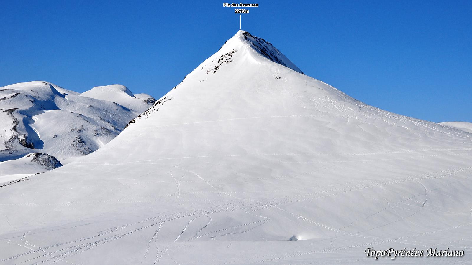 Raquettes Pic des Arazures (2215m) par le col de l'Iou (2194m)