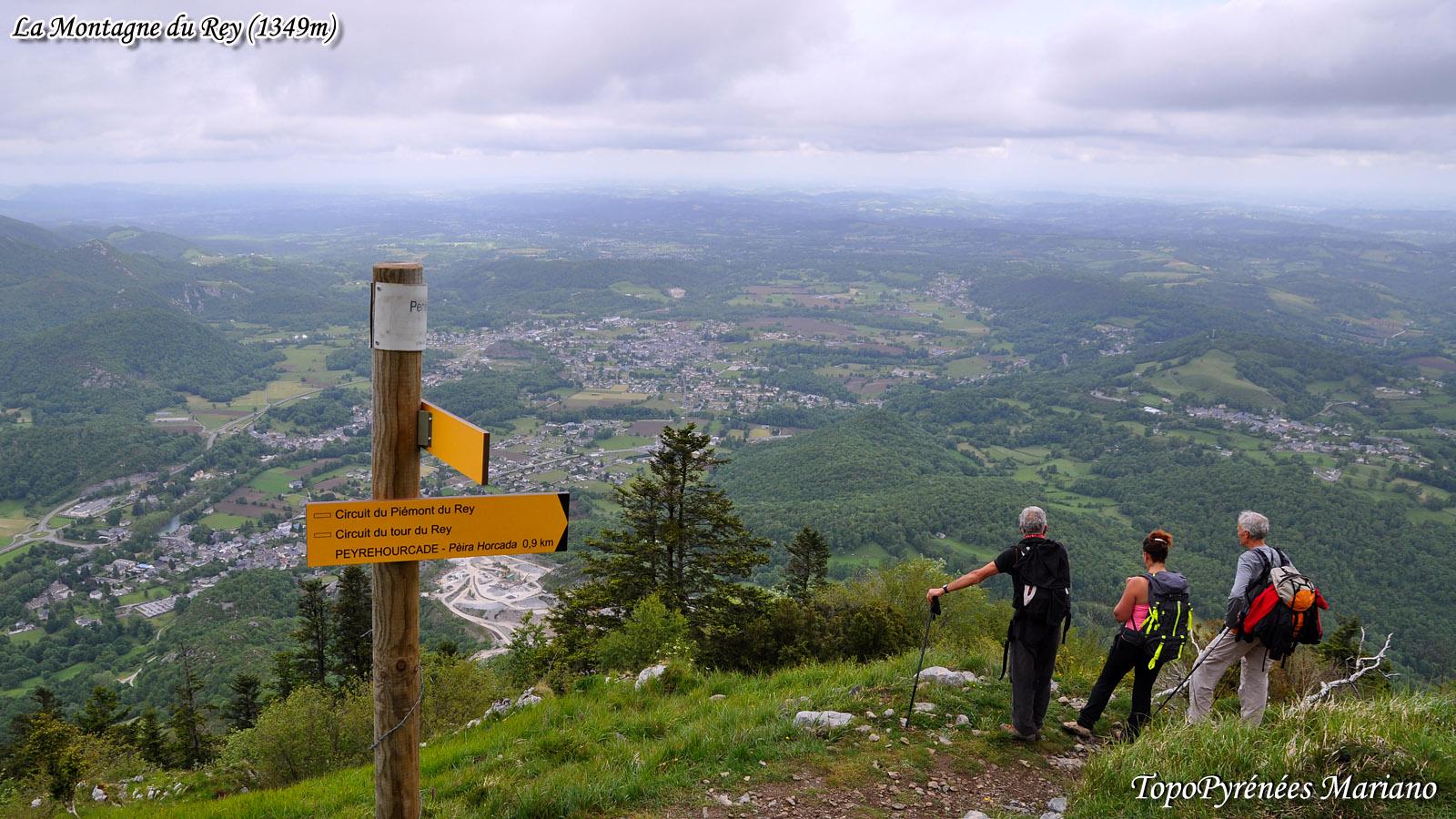 Randonnée Montagne du Rey (1349m) depuis le village de Louvie-Juzon