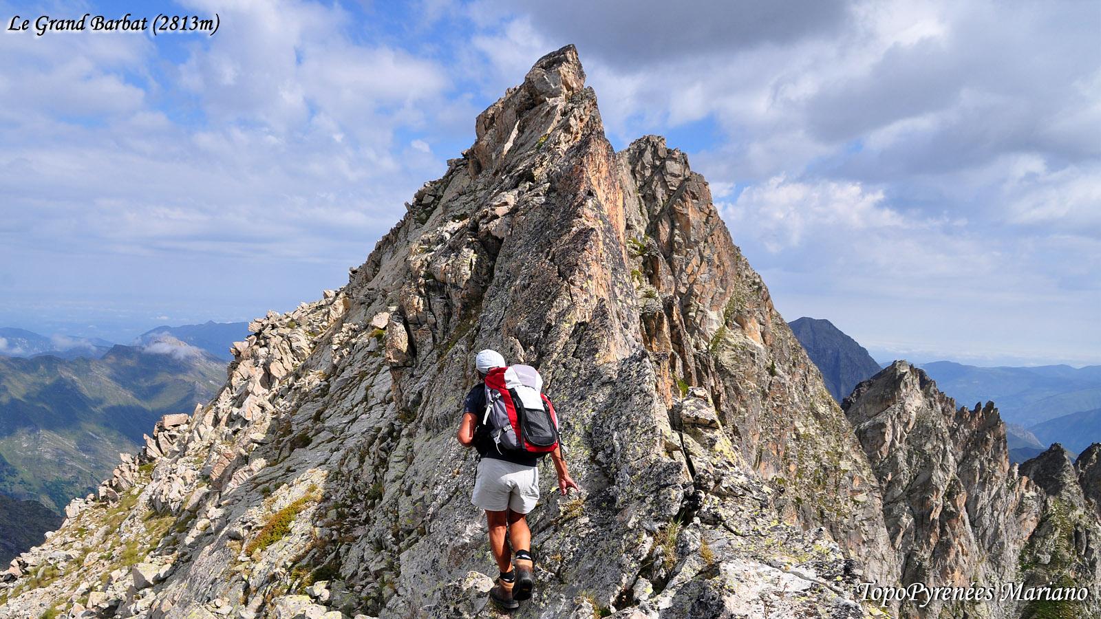 Randonnée Grand Barbat (2813m) en boucle par la cheminée Ledormeur et brèche Hourat