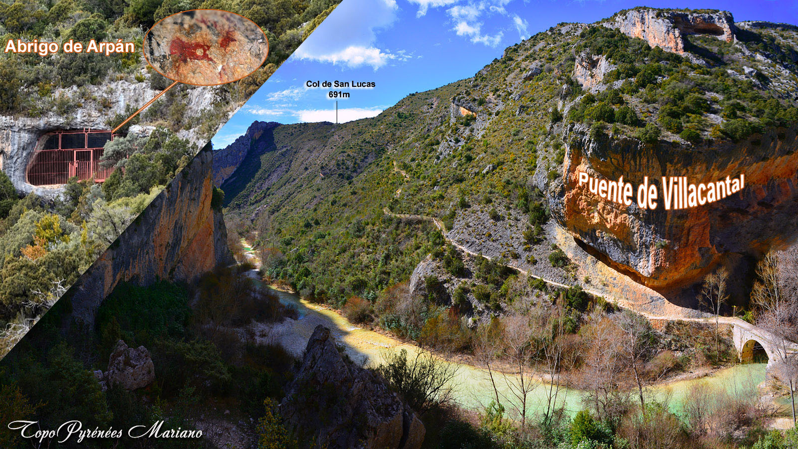 Pont Villacantal (540m) – Abri Arpán (740m)