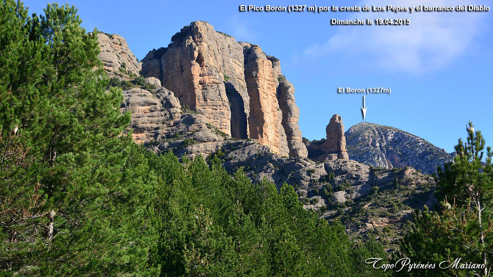 Randonnée Pico Borón (1327m) par les crêtes de Los Pepes y el barranco del Diablo