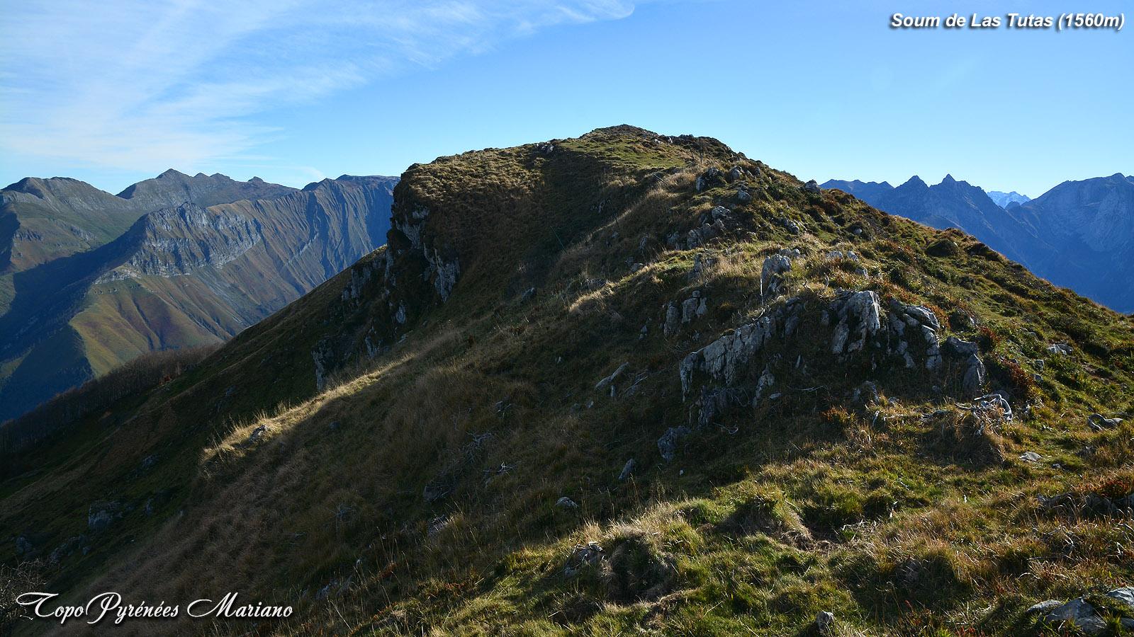 Randonnée Soum de las Tutas (1560m) en boucle par le layens (1625m)