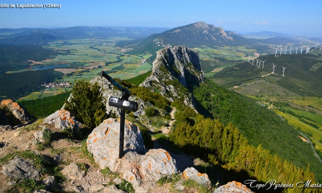 Randonnée Peña del Castillo de Lapoblación (1244m)
