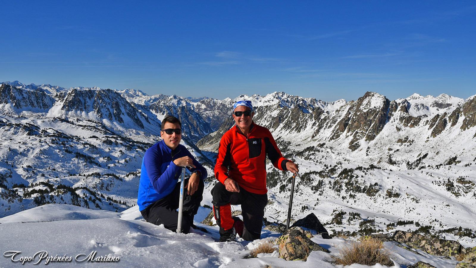 Raquettes Pic d'Aygues-Cluses (2620m) par le col de Barèges