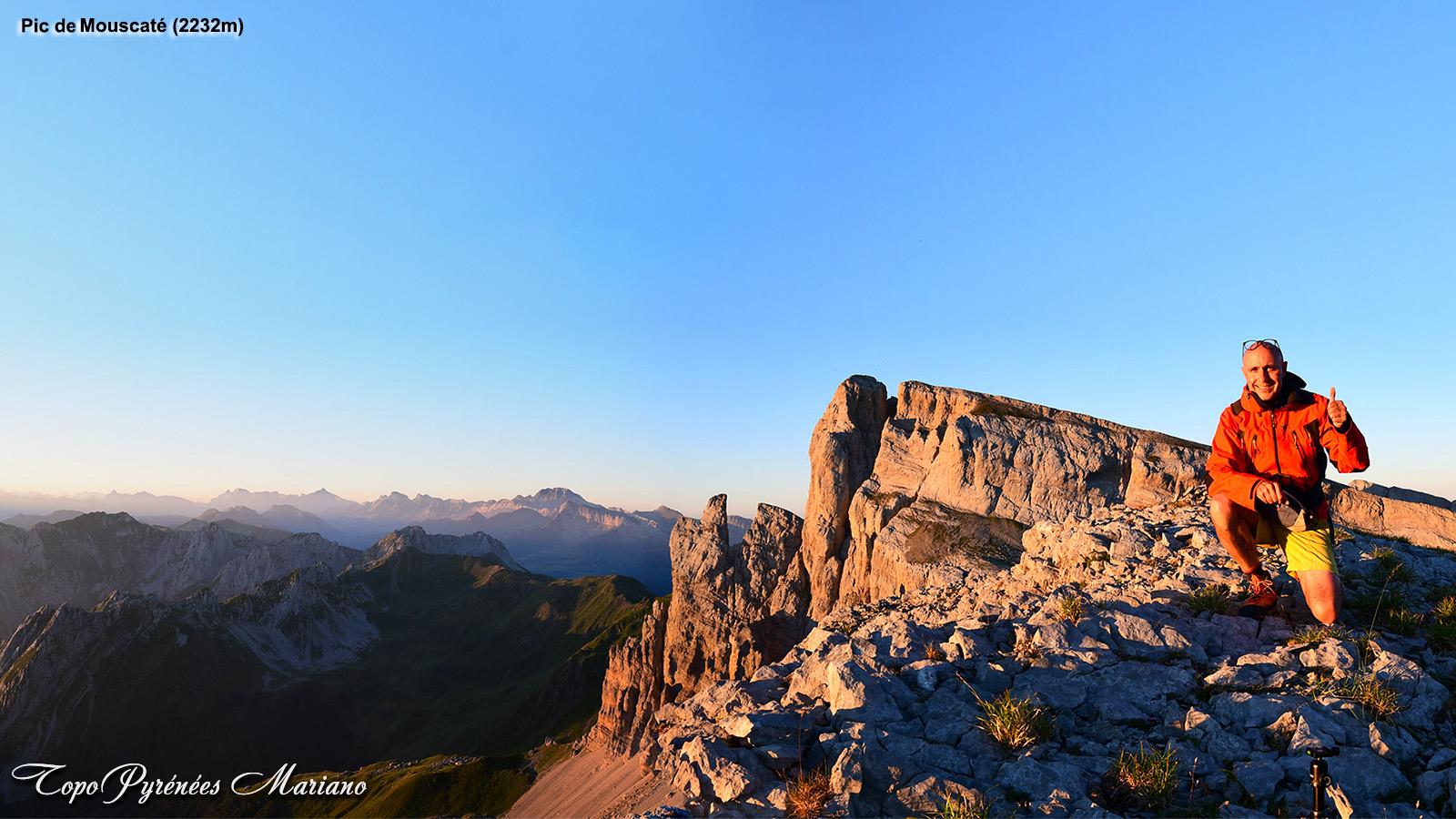 Randonnée circuit d'Ansabère par le Pic de Mouscaté (2232m)