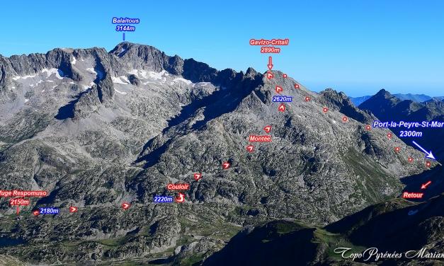 Randonnée Gavizo-Cristail (2890m) par le refuge de Respomuso